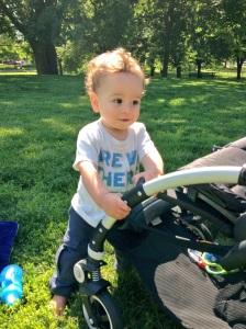 Brooks at the park last week