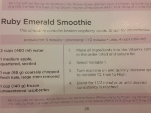 Ruby Emerald smoothie